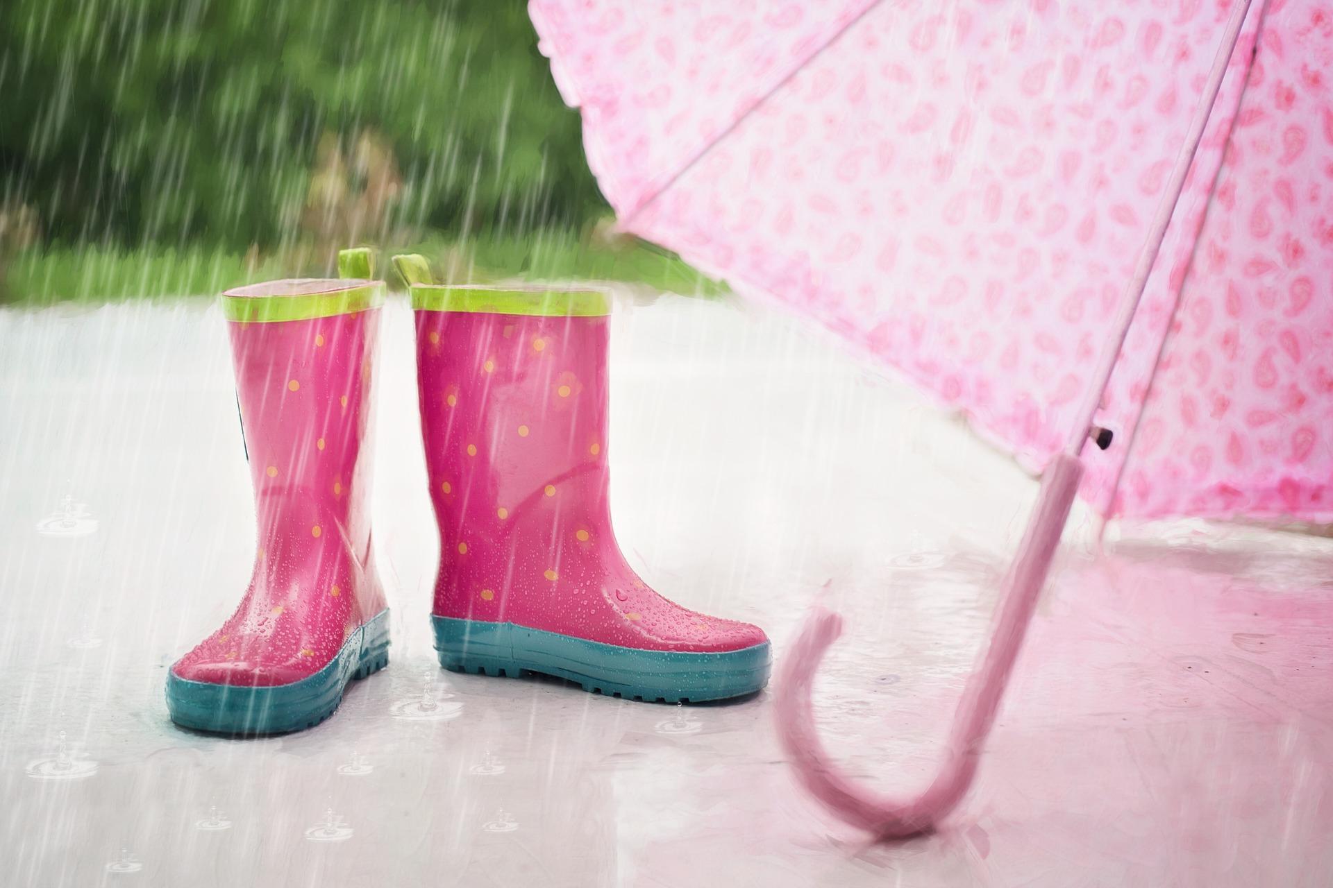 bottes et parapluie