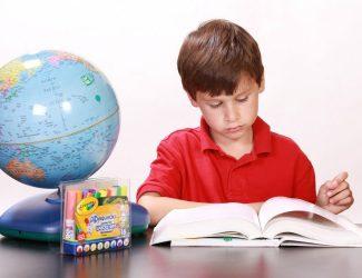 garçon avec un livre de classe
